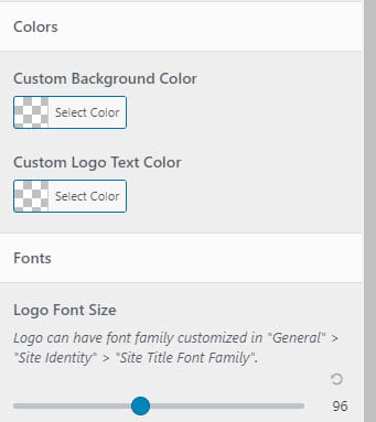 Adjust text color, background and font size