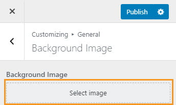 Select background image