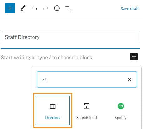Directory block