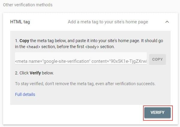 Click verify