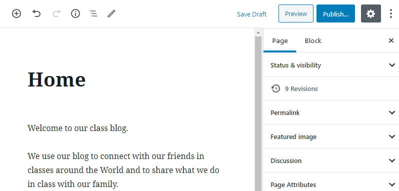 Add content to home page