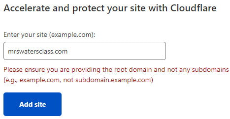 Add domain to cloudflare