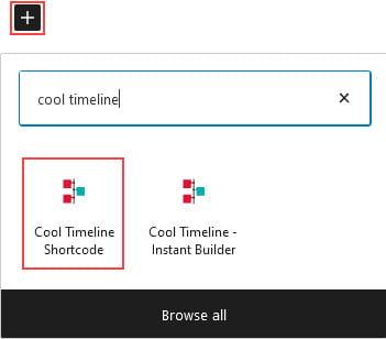 Cool Timeline Shortcode block