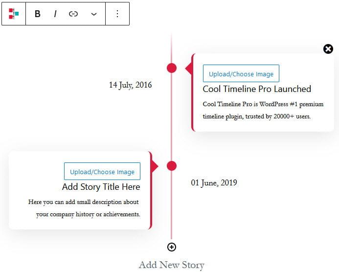 Cool Timeline - Instant Builder block