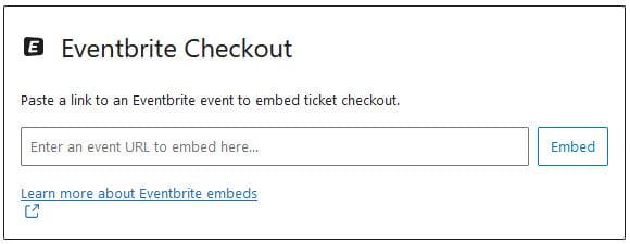 Eventbrite Checkout block