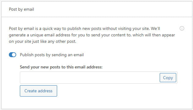 Enable post by email