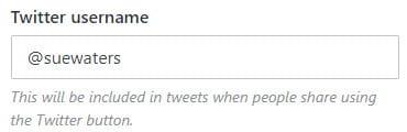 Add Twitter name