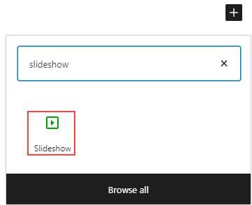 Slideshow block