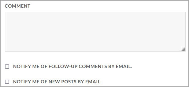 Subscription options on comment form