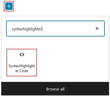 SyntaxHighlighter Code Block