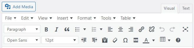 Advanced Editor Tools on classic editor