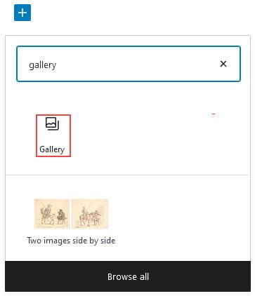 Add gallery block