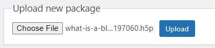 Upload h5p file