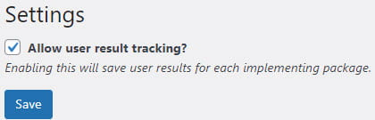 Allow user result tracking