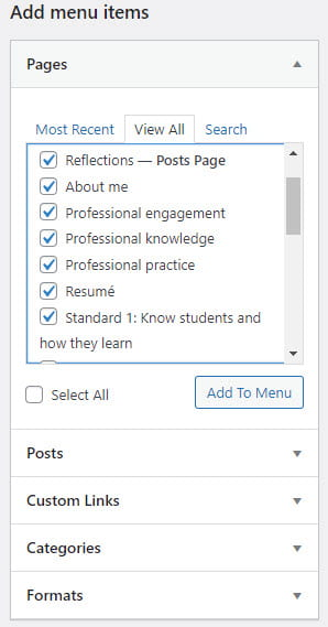 Select pages to add