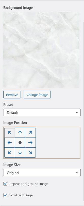 Background image options