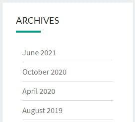 Archive Widget
