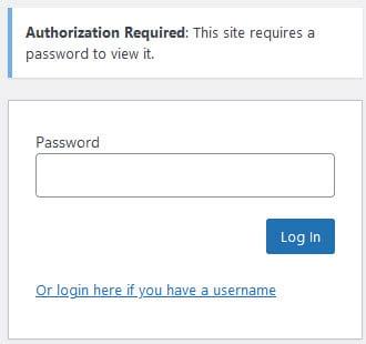 Password privacy