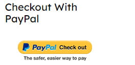 Click on PayPal Check out